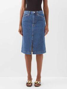 Dolce & Gabbana - Paperbag-waist Cotton-blend Trousers - Womens - Pink