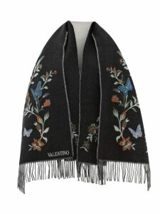 Joseph - Logo Embroidered Roll Neck Silk Sweater - Womens - Black