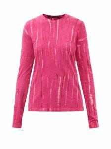 Sea - Piper Zipped Denim Midi Skirt - Womens - Denim