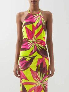 Nili Lotan - Evelyn Leopard-print Silk-chiffon Shirt - Womens - Leopard