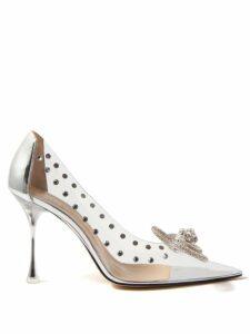 Msgm - Metallic Faux-leather Flared Midi Skirt - Womens - Silver