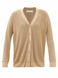 Fendi - Polka Dot-print Tie-neck Silk Blouse - Womens - White