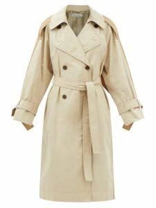 Apiece Apart - Escondido Braided-trim Cotton Maxi Dress - Womens - Dark Green