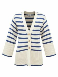 See By Chloé - Floral Lace Mesh Blouse - Womens - Navy