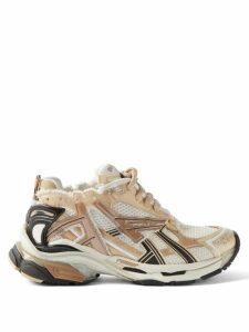Erdem - Carvella Cape-sleeve Floral-print Silk Blouse - Womens - Pink Print