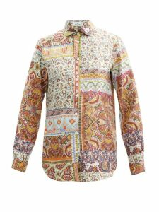 Charles Jeffrey Loverboy - Colour-blocked Merino Wool Cardigan - Womens - Multi