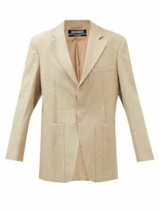 Rochas - Passiflora Cotton-blend Gabardine Midi Skirt - Womens - Beige