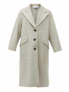 Harris Wharf London - Single-breasted Pressed-wool Coat - Womens - Light Grey
