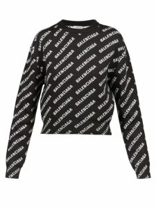 Peter Pilotto - Ruffled Scalloped Edge Lurex Sweater - Womens - Pink Gold