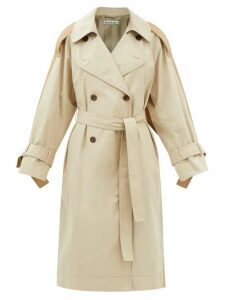 Borgo De Nor - Tilly Floral-print Ruffle-trim Cotton Top - Womens - Blue White