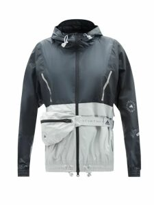 Miu Miu - Ruffled High Neck Cotton Blouse - Womens - Dark Green