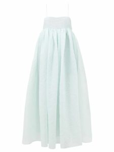 Raey - Empire-waist Hippy Floral-print Cotton Cami Top - Womens - Yellow Print