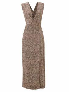 Loewe - Tiger Print Woven Loafers - Womens - Orange Multi