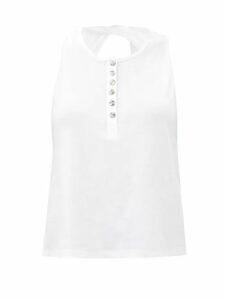See By Chloé - Leather Trim Pvc Rain Boots - Womens - Black