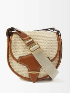 Chloé - Laurena Lizard Effect Leather Flats - Womens - Brown Multi