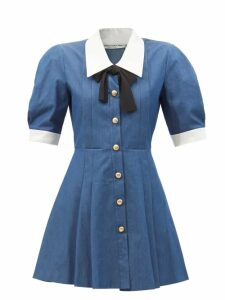 Malone Souliers - X Roksanda Camilla Leather Sandals - Womens - Orange Multi