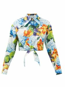 Fendi - Ffreedom Square Toe Jacquard Loafers - Womens - Multi