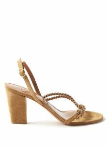Erdem - Joanne Contrast Croc Embossed Leather Pumps - Womens - Burgundy Multi