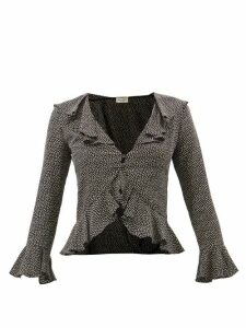 By Far - Britney Python Effect Leather Loafers - Womens - Python