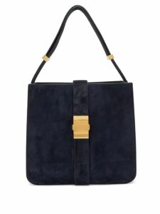 Bottega Veneta - The Marie Suede Shoulder Bag - Womens - Navy