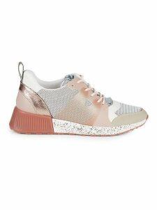 Darsie Mixed-Media Wedge Sneakers
