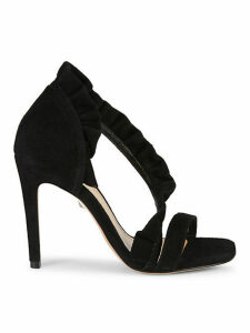 Aime Suede Leather d'Orsay High-Heel Sandals
