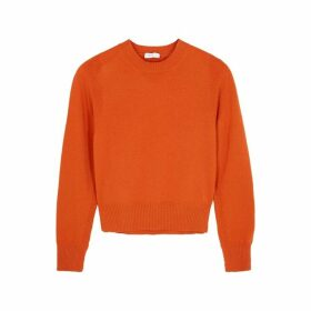 Rosetta Getty Orange Wool-blend Jumper