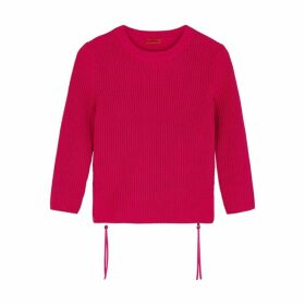 HUGO Raspberry Cotton Jumper