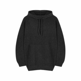 Vince Dark Grey Hooded Cashmere Jumper