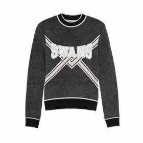 Off-White Black Intarsia Chenille Jumper