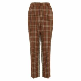 MM6 By Maison Margiela Checked Straight-leg Twill Trousers