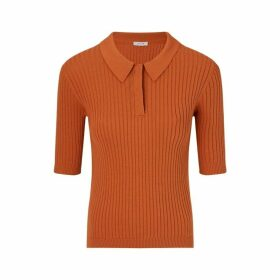 Jigsaw Rib Polo Neck Top