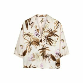 Vince Printed Silk Blouse