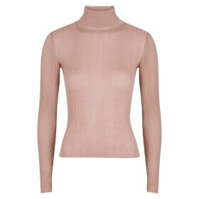 Altuzarra Bryan Metallic-weave Roll-neck Jumper