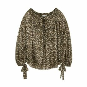 Zimmermann Suraya Leopard-print Silk Blouse