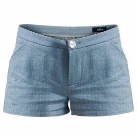 GISY - Linen Mini Shorts Ice Blue
