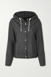 GRLFRND - Helena Cropped Frayed High-rise Straight-leg Jeans - Mid denim