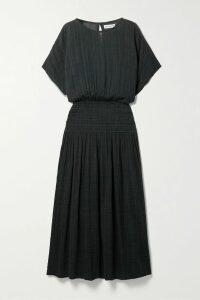 Nanushka - Moun Belted Frayed Woven Midi Dress - Taupe