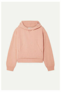 Nanushka - Mog Cropped Ribbed-knit Hoodie - Blush