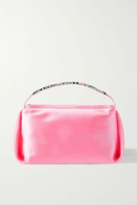 16ARLINGTON - Jackson Draped Hammered-satin Blouse - Dark green