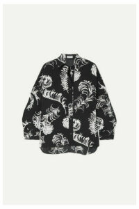 Loewe - Oversized Printed Satin Blouse - Black