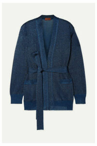 Missoni - Belted Lurex Cardigan - Navy