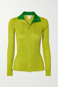 Dion Lee - Satin-trimmed Stretch-crepe Bustier Top - Navy