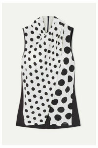 Mother of Pearl - + Net Sustain And Bbc Earth Nyler Polka-dot Silk-crepe Top - White