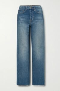 Tibi - Stretch-ponte Peplum Top - Midnight blue