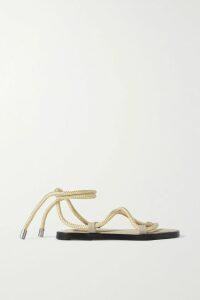 STAUD - Tarte Ruched Crepe Mini Dress - Light green