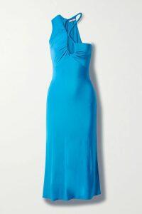Michelle Mason - Silk-satin Wrap Gown - Brick
