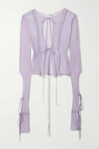 McQ Alexander McQueen - Asymmetric Wool Sweater - Blue