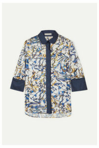 Mary Katrantzou - Rita Printed Twill Shirt - Blue