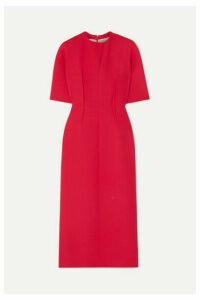 Emilia Wickstead - Trista Wool-crepe Midi Dress - Coral